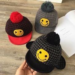 Pompabee - Kids Smiley Face Pompom Cap