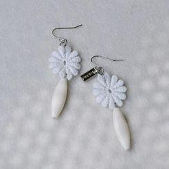MyLittleThing - Lace Flower Bead Earrings
