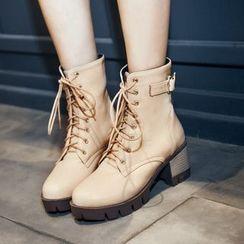 Cinnabelle - Block Heel Short Boots