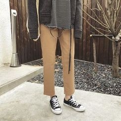 ByPeggie - Cropped Straight Fit Pants