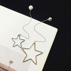 Pompabee - Non-matching Star Drop Earrings