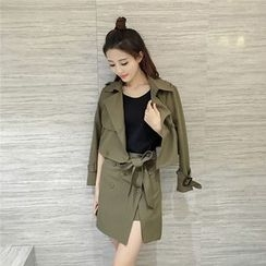 Be Bonita - Set: Button Jacket + Skirt