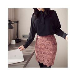 MASoeur - Zip-Back Lace Skirt