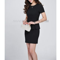 Caroe - Short-Sleeve Peplum Dress