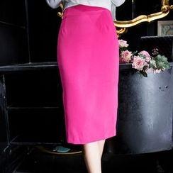 Aurora - Color-Block Midi Skirt