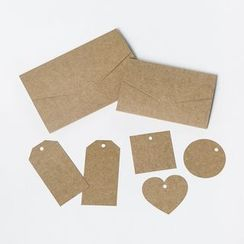 Paper House - Set : Kraftpaper Tag + Gift Card