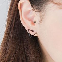 Heynew - Open Triangle Ear Studs