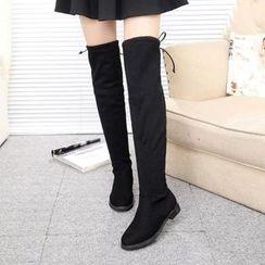 楊董 - 抓毛過膝靴