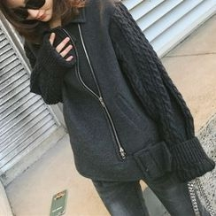 SMA - Panel Loose-Fit Knit Jacket