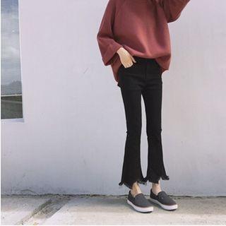Octavia - Frayed Boot Cut Jeans