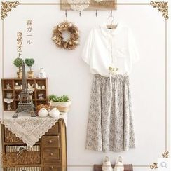 Forest Girl - Floral Maxi Skirt