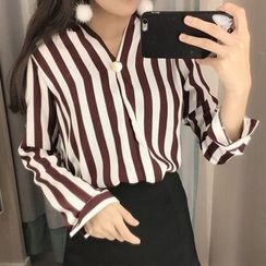 Dute - Chiffon Striped Blouse