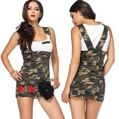 Cosgirl - Camouflage Army Party Costume