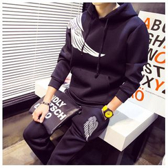 Danjieshi - Set: Hooded Wing Sweatshirt + Swaetpants
