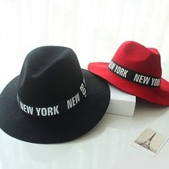 EVEN - Letter Woolen Fedora Hat