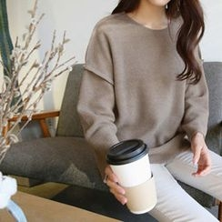 Hello sweety - Drop-Shoulder Colored Sweater