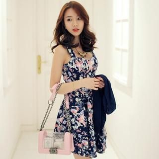 BRONCY - Sleeveless Floral Dress