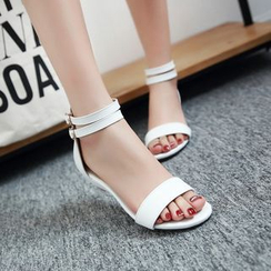 Charming Kicks - Low Wedge Sandals