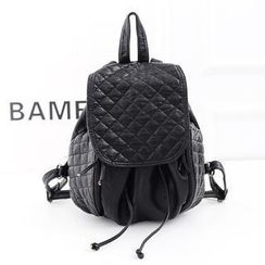 Bibiba - Quilted Faux Leather Backpack