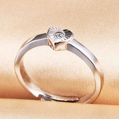 Claudette - Sterling Silver Heart Ring