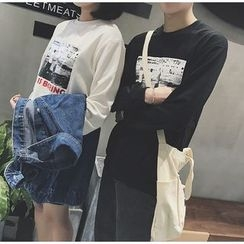 Bestrooy - Couple Matching Printed Sweatshirt