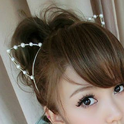 Lazy Corner - Beaded Cat-Ear Hairband