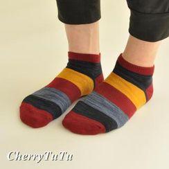 CherryTuTu - Color-Block Ankle Socks