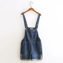 Acoustic Rain - Distressed Dungaree Shorts