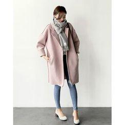 UPTOWNHOLIC - Open-Front Boucle-Knit Coat