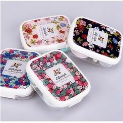 Bookuu - Floral Contact Lens Case