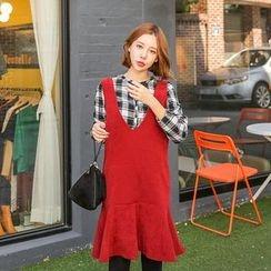 Seoul Fashion - Sleeveless Jumper Dress