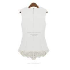 Dream a Dream - Sleeveless Ruffle Lace Top