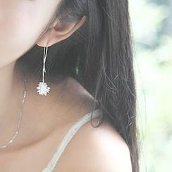 Sylvion - Pendant Sterling Silver Drop Earrings