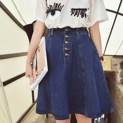 Denim Fever - A-Line Denim Skirt