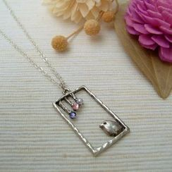 MyLittleThing - Silver Bird Garden Necklace