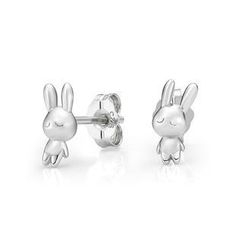 Kenny & co. - 925 Silver 3D Rabbit Earring in RH. Plated