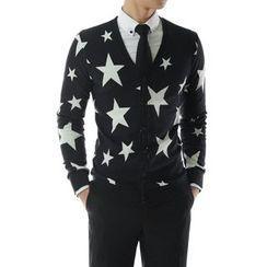TheLees - Star-Pattern V-Neck Cardigan