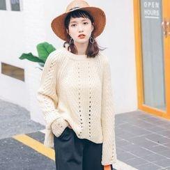 Ivena - Open-Knit Sweater