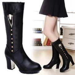 Sunsteps - Block Heel Tall Boots