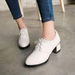 傾城 - 粗跟牛津鞋