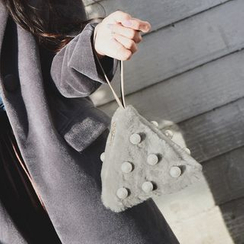 Shinian - Fleece Triangle Clutch