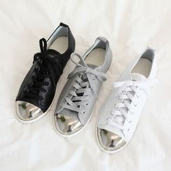 NANING9 - Genuine Leather Sneakers
