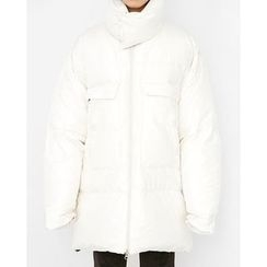 Someday, if - Funnel-Neck Duck-Down Thick Padded Coat
