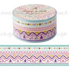 Aimez le style - Aimez le style Masking Tape Primaute Middle Aztec Pattern