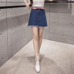OGAWA - Denim A-line Skirt