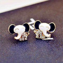 Best Jewellery - Rhinestone Elephant Earrings