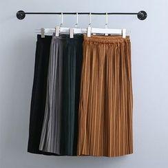KANAMI - Pleated Midi Skirt
