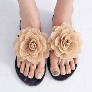 BAIMOMO - Flower-Accent Flip-Flops