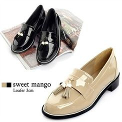 SWEET MANGO - Tassel-Front Patent Loafers