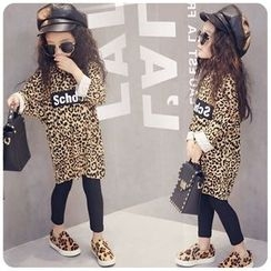 Rakkaus - Kids Leopard-Print Shift Dress